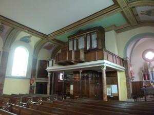La tribune d'orgue où s'est cachée Alda Signori